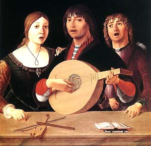 Concerto (1485-95), quadro a óleo de Lorenzo Costa.