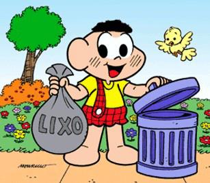 cascao reciclagem lixo - Aprender a Reciclar Materiais - Crianças