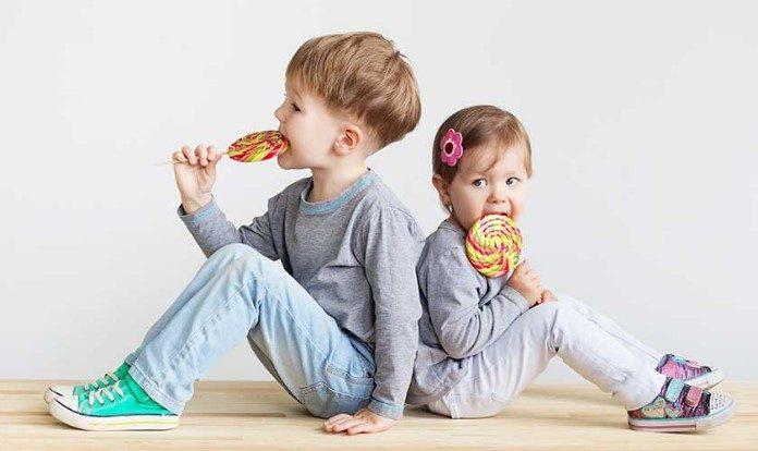 Crianças Saúde e Guloseimas