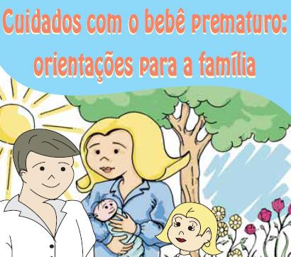 cartilha cuidados com o bebe prematuro