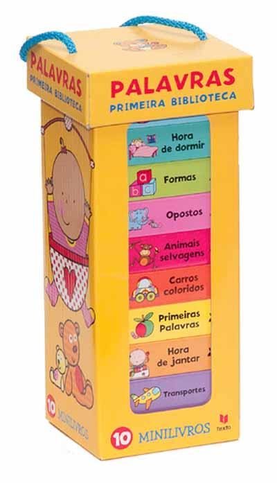 palavras primeira biblioteca - Livros para Crianças - Presentear no Natal