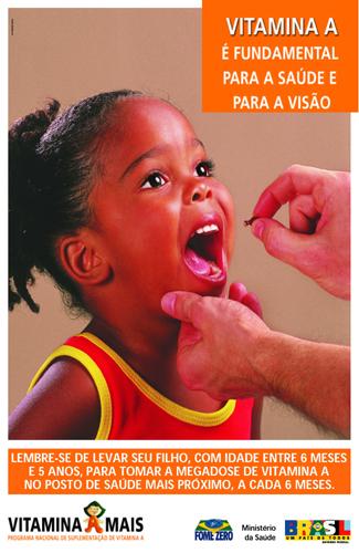 campanha suplementacao vitamina A - Campanha de Suplementação de Vitamina A