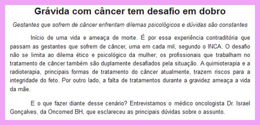 cancer gravidez como lidar com esta situacao - Câncer e Gravidez, como lidar com esta situação