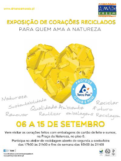 Atelier de reciclagem no Almada Forum - Portugal