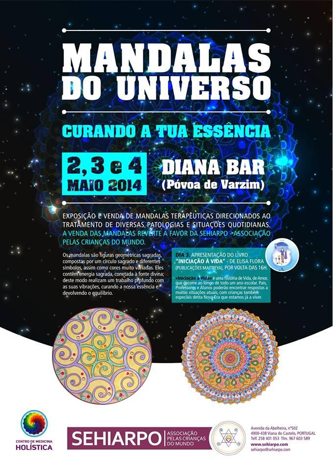 exposicao mandalas do universo - Exposição de Mandalas Terapêuticas