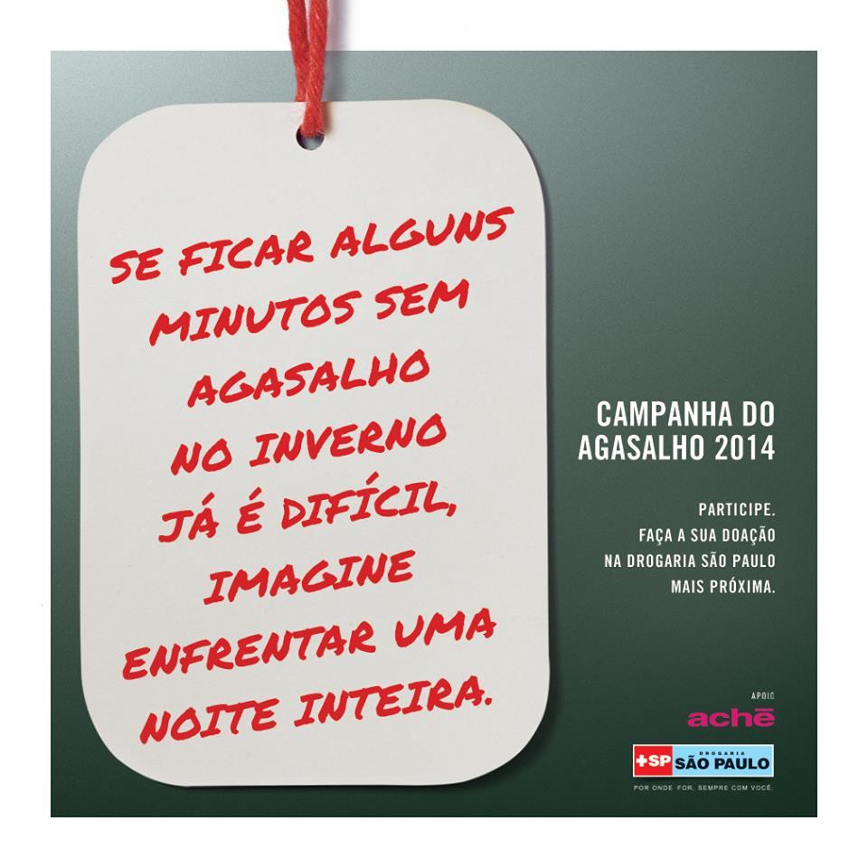 Campanha do Agasalho 2014 – Drogaria São Paulo