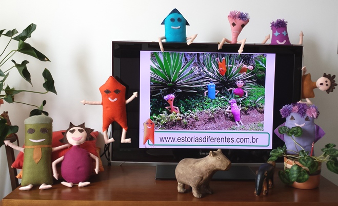 Personagens do projeto Estórias  Diferentes de Cristina Oliveira