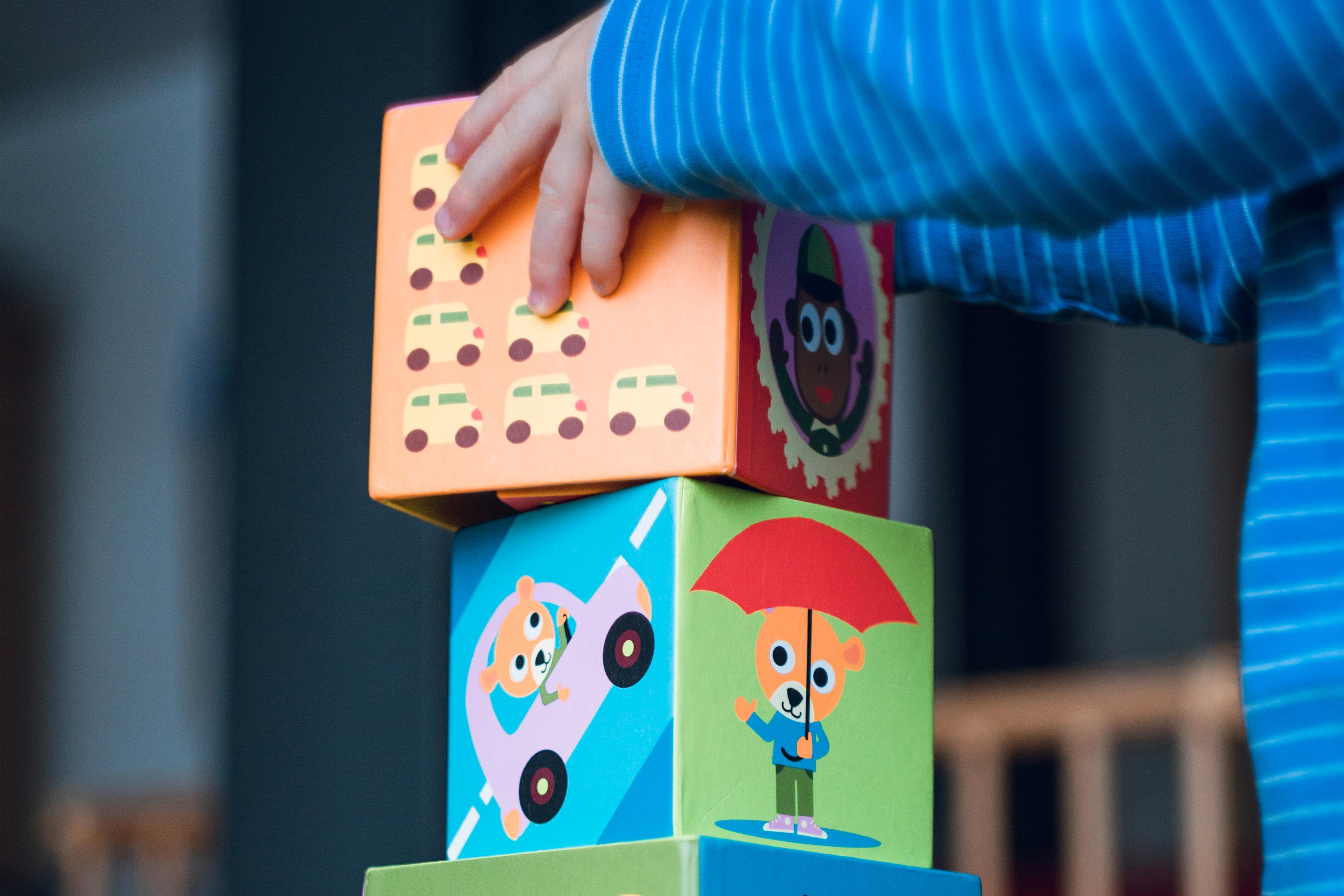 Os blocos de montar são brinquedos essenciais para crianças da primeira infância - Imagem Loja Cuba ©