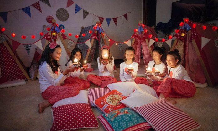 decoração para festa do pijama