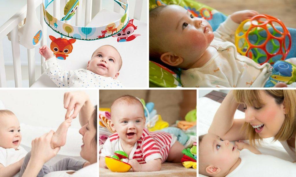 brincadeiras com bebês de 0 a 6 meses