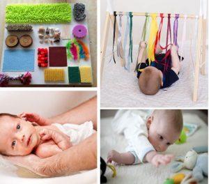 Mês 2 - Top 10 Atividades sensoriais para bebê 2 meses6