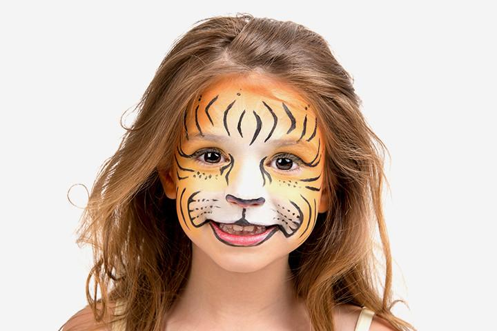 Ideias de maquiagens de Halloween para crianças18 1 - 10 de Pinturas faciais passo a passo para as crianças no Halloween