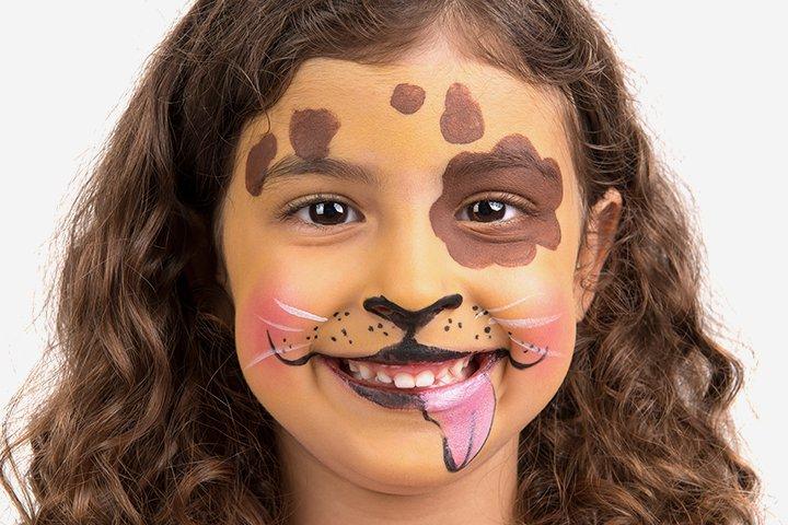 Ideias de maquiagens de Halloween para crianças19 1 - 10 de Pinturas faciais passo a passo para as crianças no Halloween