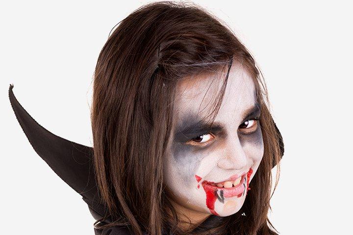 Ideias de maquiagens de Halloween para crianças20 1 - 10 de Pinturas faciais passo a passo para as crianças no Halloween