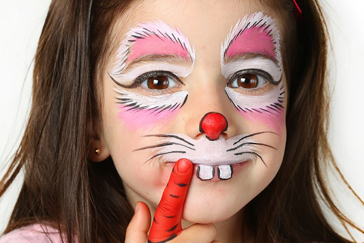 Ideias de maquiagens de Halloween para crianças22 - 10 de Pinturas faciais passo a passo para as crianças no Halloween