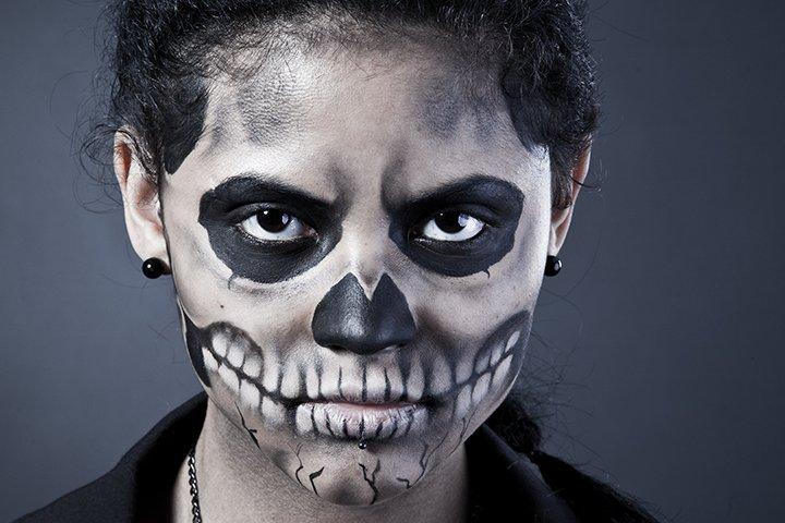 Ideias de maquiagens de Halloween para crianças23 - 10 de Pinturas faciais passo a passo para as crianças no Halloween