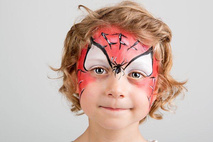 Ideias de maquiagens de Halloween para crianças25 - 10 de Pinturas faciais passo a passo para as crianças no Halloween