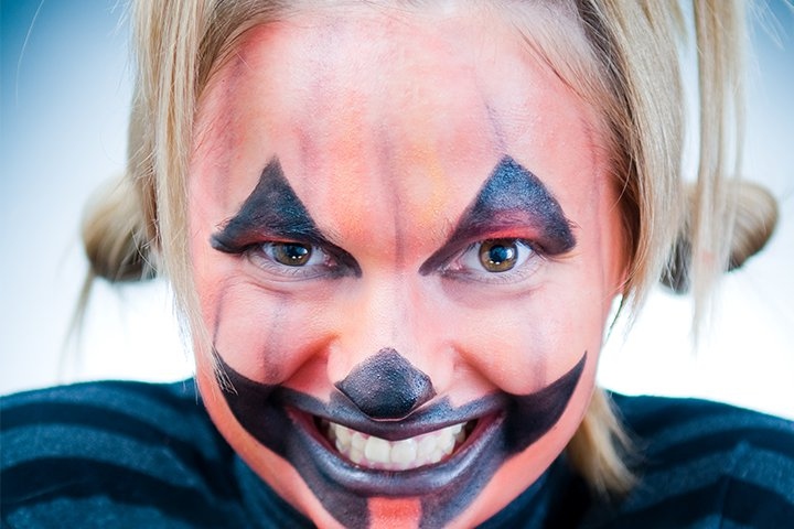 Ideias de maquiagens de Halloween para crianças27 - 10 de Pinturas faciais passo a passo para as crianças no Halloween
