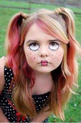 Ideias de maquiagens de Halloween para crianças9 - Ideias de maquiagens aterradoras para o halloween