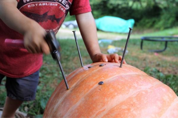 atividades sensoriais aboboras1 - Atividades sensoriais de abóbora para diversão de outono