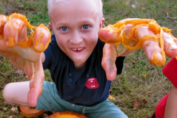 atividades sensoriais aboboras3 - Atividades sensoriais de abóbora para diversão de outono