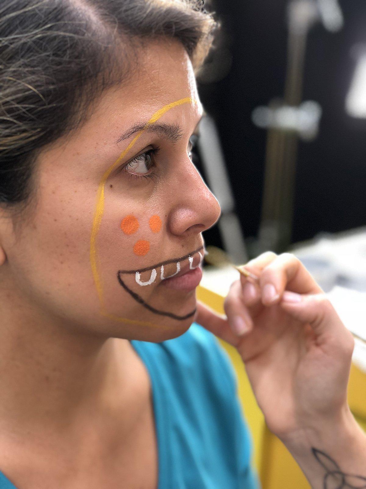 pintura facial halloween monstro2 - Pintura de rosto de Halloween - Monstro