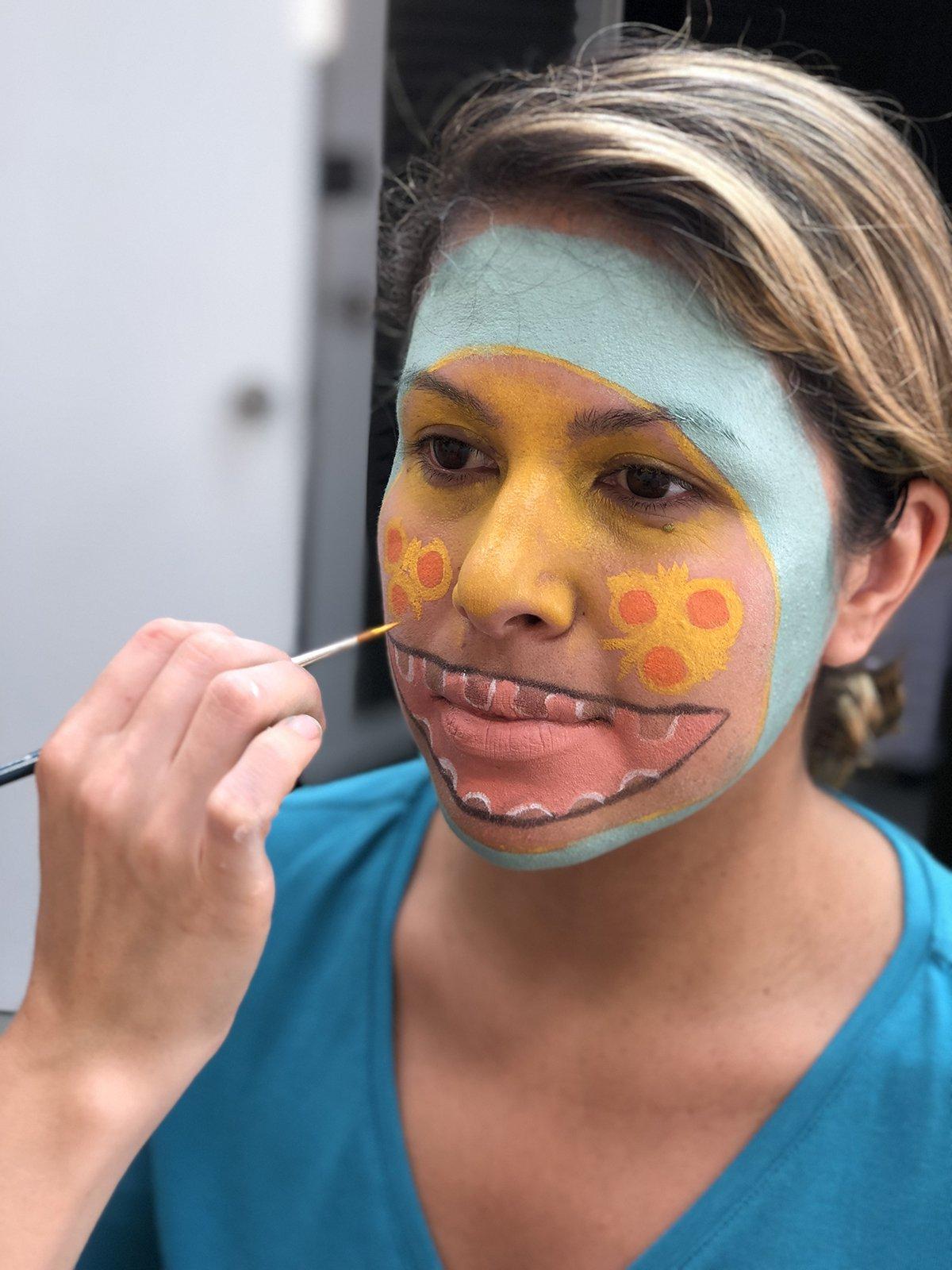 pintura facial halloween monstro3 - Pintura de rosto de Halloween - Monstro