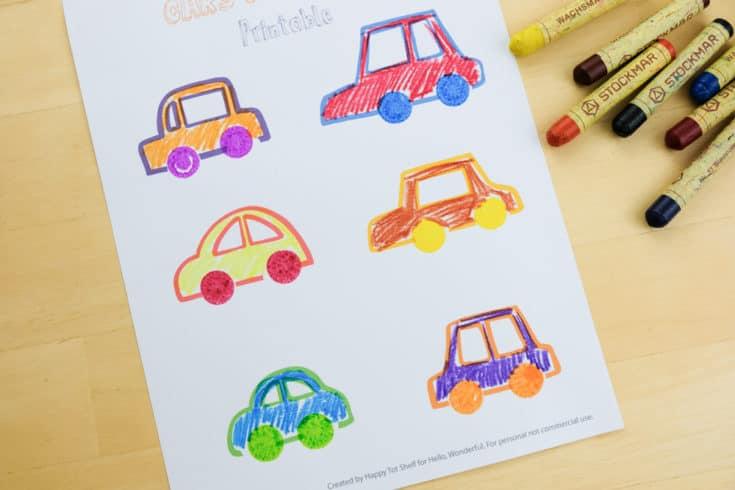Carros para aprender as cores letras e números11 - Aprender as cores, letras e números